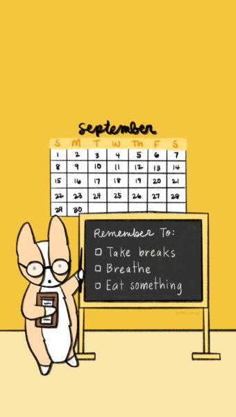 Sept 2019 Mobile Calendar