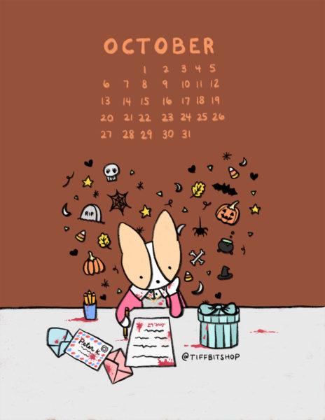 Oct 2019 Printable Calendar