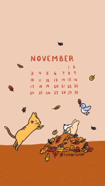 Nov 2019 Mobile Calendar