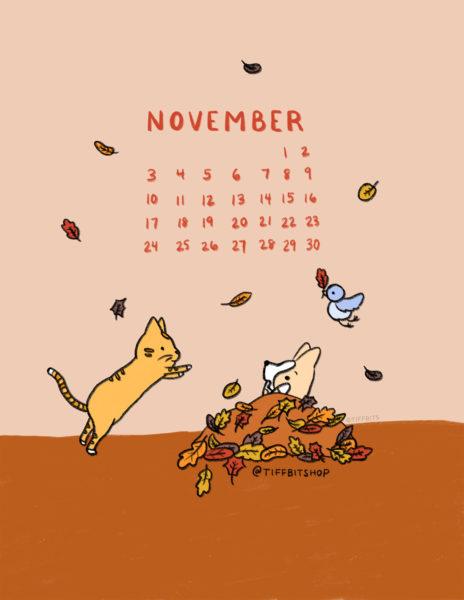 Nov 2019 Printable Calendar