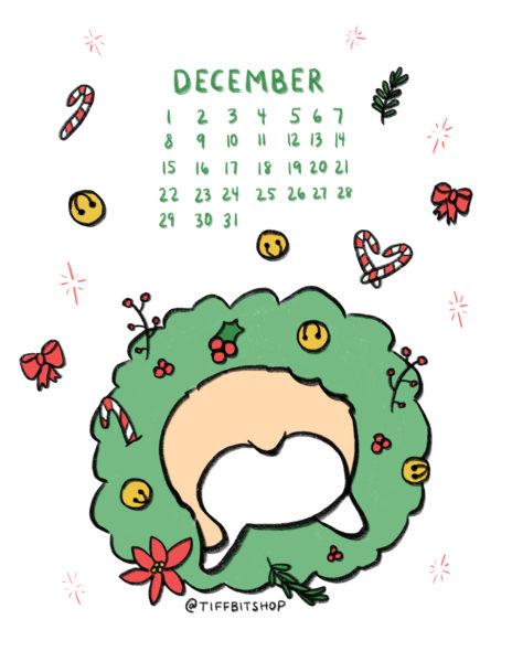 Dec 2019 Printable Calendar
